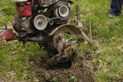 Motocultivator, Engine, Little, Agricultural, Device