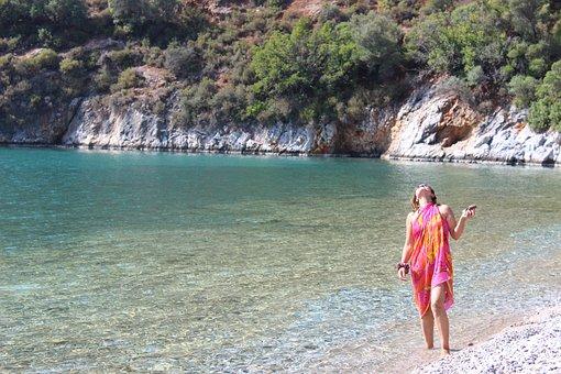 Turkey, Mugla, Akbuk, Beach, Nature, Desire