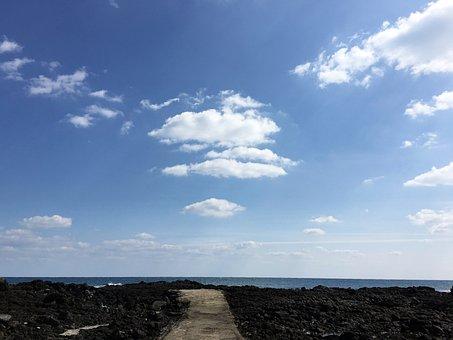 Sky, Sea, Island, Nature, Scenery, Jeju-do, Ocean