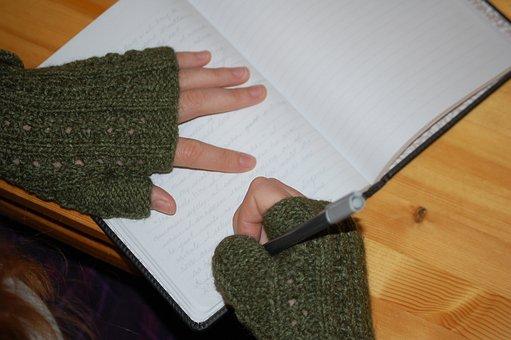 Child, Writing, Writer, Journal, Paper, Writer' Block