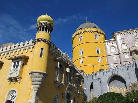 Sintra, Castle, Architecture, Portugal, Fortress