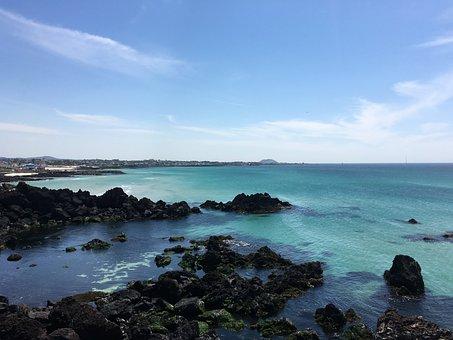 Jeju Island, Sea, Sky, Island, Travel, Landscape