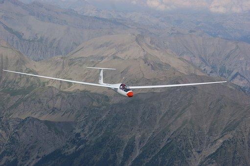 Glider Pilot, Aircraft, Sport Aircraft, Aerial View