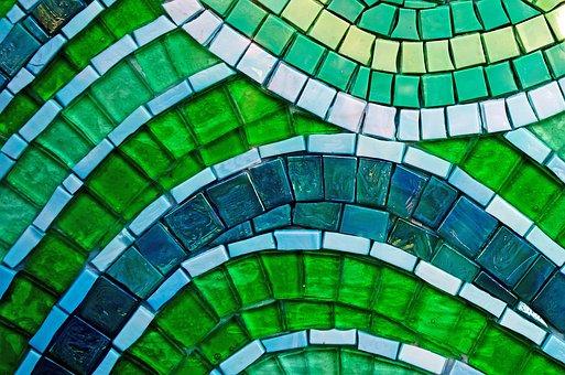 Green, Background, Wallpaper, Macro, Square, Squares
