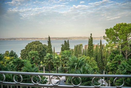 Lake Garda, Italy, Sunset, Travel, Blue, Water, Tourism