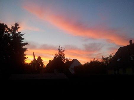Sunset, Afterglow, Evening Sky, Sky, Clouds, Sun
