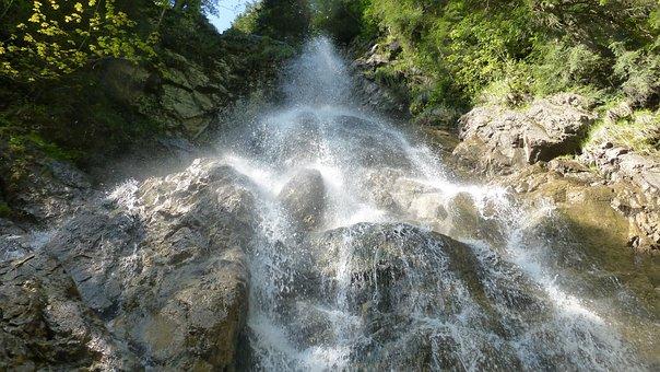 Allgäu, Pfronten Kappel, Hoellschlucht, Waterfall