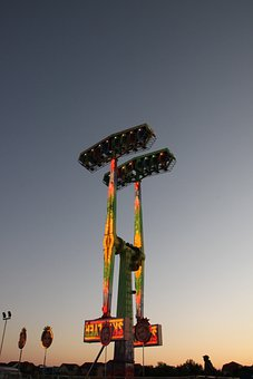 Amusement, Carousel, Fun, Lights, Night, Park, Ride
