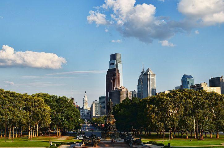 Philadelphia, Skyline, City, Urban, Architecture
