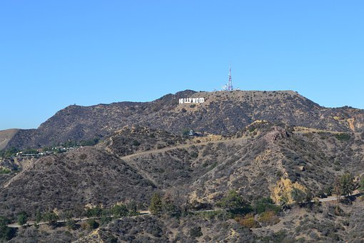 Hollywood, Los Angeles, California, Mountains, Sign
