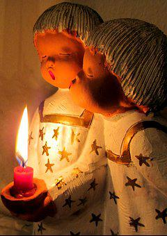 Christmas, Advent, Angel, Candle, Clay Figure