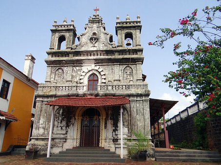 Church, Terekhol Fort, 17th Century Built, Goa, India