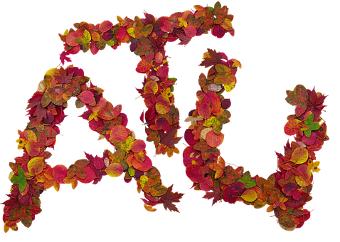 Letters, Fall, Isolated Form, Cutout, Leaves, Colors