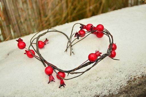 Heart, Snow, Love, Winter, Valentine's Day, Affection