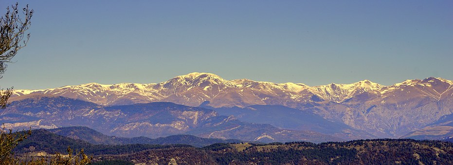 Snowy Mountains, The Puigmal, Landscape, High Mountains