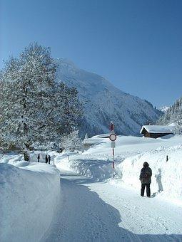 Snow, Winter, Höhenweg, Lilli, Mittelberg, Austria