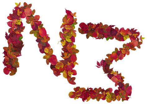 Letters, Fall, Cutout, Isolated Form, Leaves, Colors