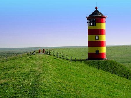 Lighthouse, Pilsum, East Frisia, Lighthouse Otto