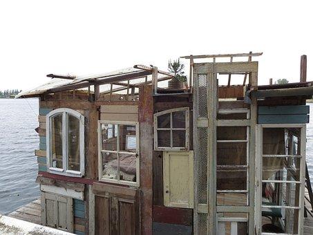 Houseboat, Self Made, Place To Sleep, Window, Doors