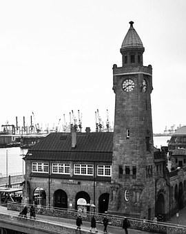 Pegelturm, Landungsbrücken, Port Of Hamburg
