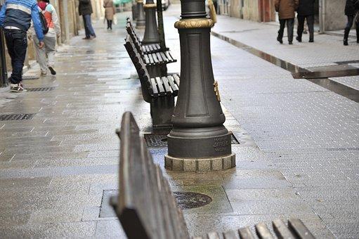Street, Street Lamp, Rain, Via, Path, Urban, Peaceful
