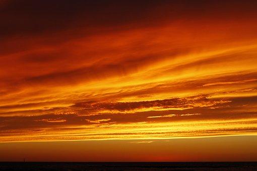 Sky, Sunset, Red, Cloud, Sunset Light, Red Sun
