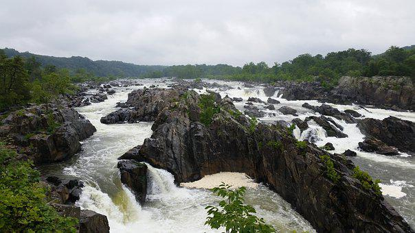 Great Falls Park, Virginia, Potomac River, River, Great