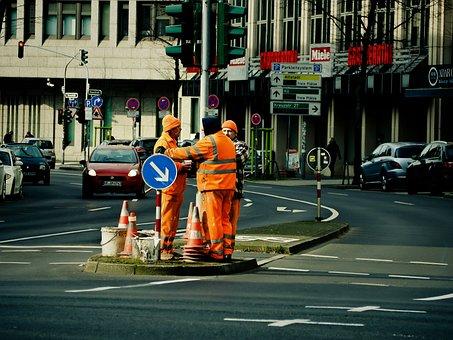 Workers, Road Workers, Site, Work, Road, Road Works