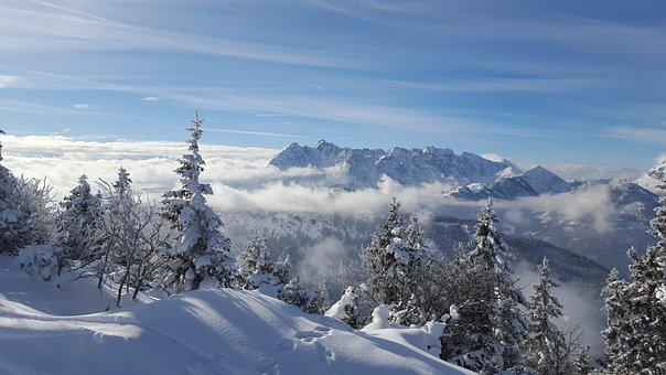Ski, Skiing, Kössen, Tyrol, Austria, Wintry, Winter