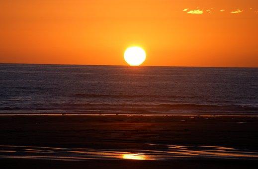 Sunset, Red, Sky, Afterglow, Sun, Evening Sky