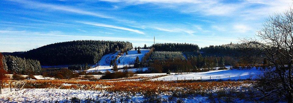 Winter, Snow, Mountains, Wintry, Tree, White, Snowy