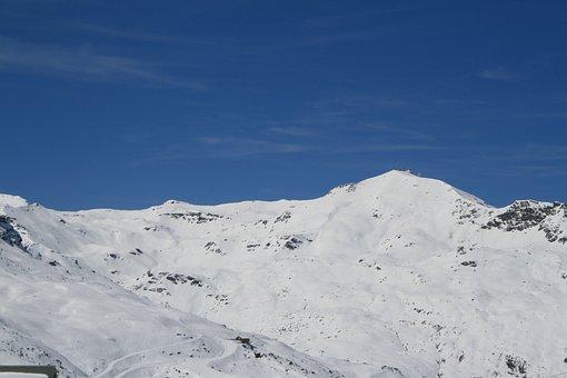 Val Thorens, Snow, Mountain, Landscape, Nature, Snowy