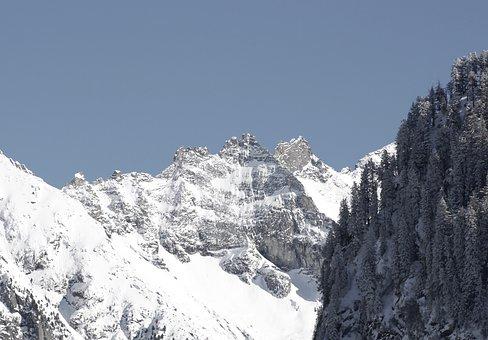 Mountains, Snowy, Snow, Winter, Alpine, Wintry