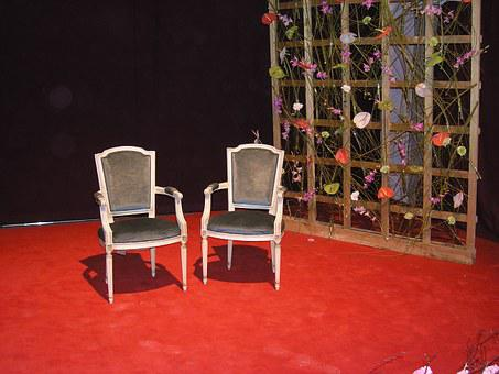 Still Life, Green Week, Chairs, Stage, Art