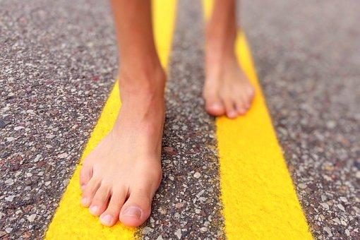 Walk, Street, Barefoot, Summer, Urban