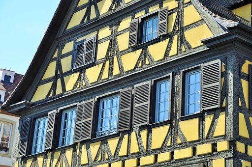 Alsace, Studs, House, Alsatian House, Strasbourg