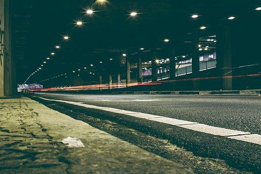 Light, Traffic, Street, Tunnel, Long-exposure, Urban