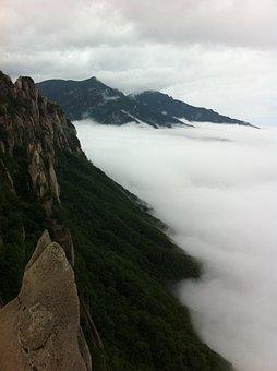 Ulsan Rock, Mt Seoraksan, A Sea Of clouds