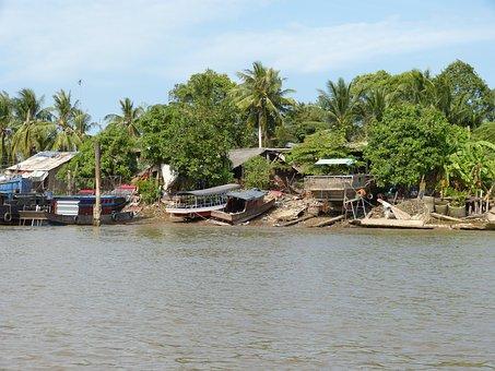 Vietnam, Mekong River, Mekong Delta, River, Transport