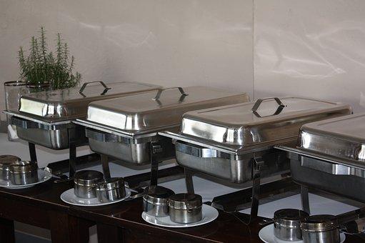 Warming Trays, Silver, Gastronomy, Restaurant