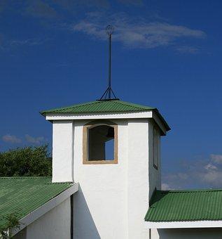 Wedding Chapel, Building, Blue Sky, Whispy Cloud