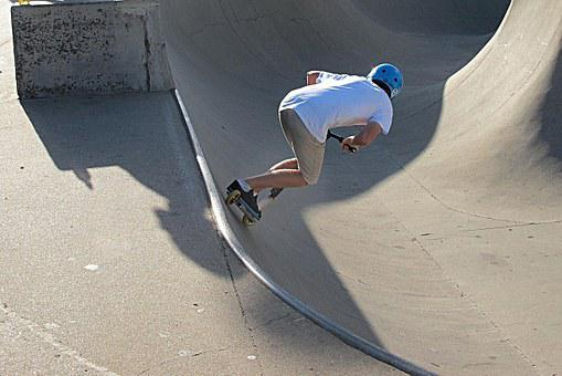 Scooting, Half Pipe, Skateboard, Youth, Young People