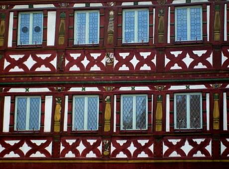 Facade, Truss, Wood, Architecture