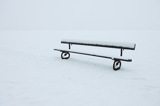 Abandoned, Alone, Bench, Cold, Empty, Frost, Frosty