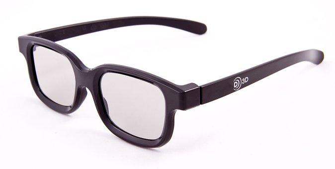 Glasses, 3d, Closeup, Optics, Glass, White, Background