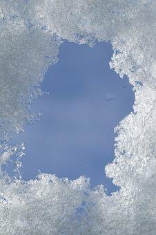 Snow, Ice, Frame, Peephole, Sky, Winter, Frost, Frozen