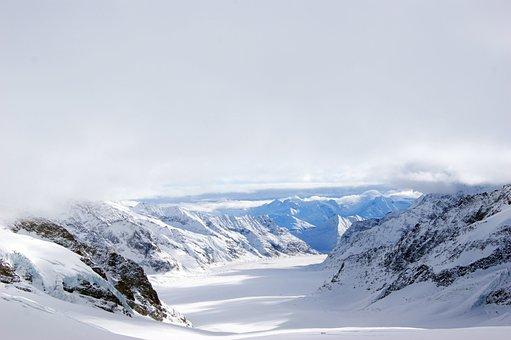 Jungfraujoch, Glacier, Mountains, Snow Landscape, Snow