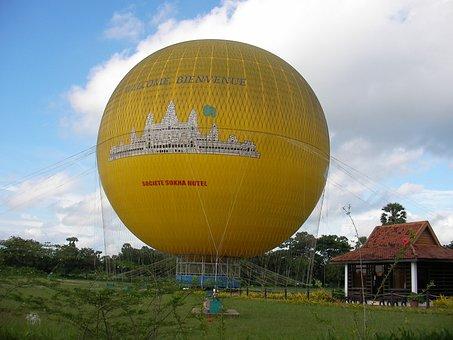Cambodia, Hot Qi Ball, Landscape, Travel