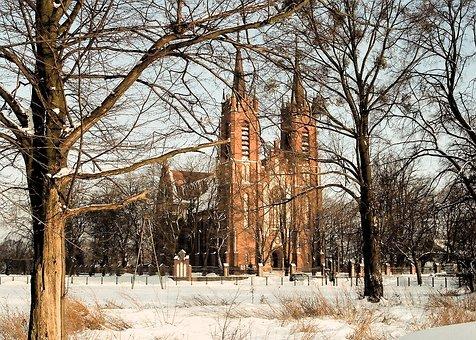 Church, Winter, Landscape, Nature, Outdoors, Snow