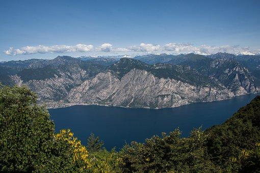 Lake, Garda, Lago Di Garda, Mountains, Snowy, Summit